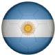 Argentina Football Flag 25mm Button Badge